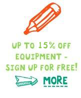 up to 20& off equipment - sign up  for free!